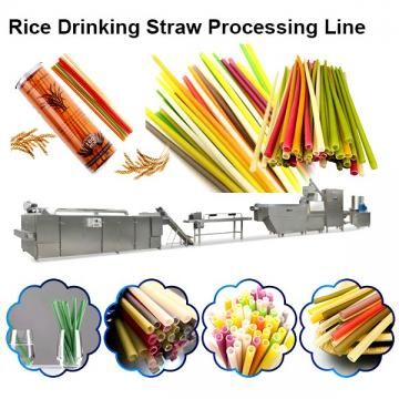 Extrusion Process Spaghetti Straws Making Machine With Plant Fibers Resin As Raw Materials